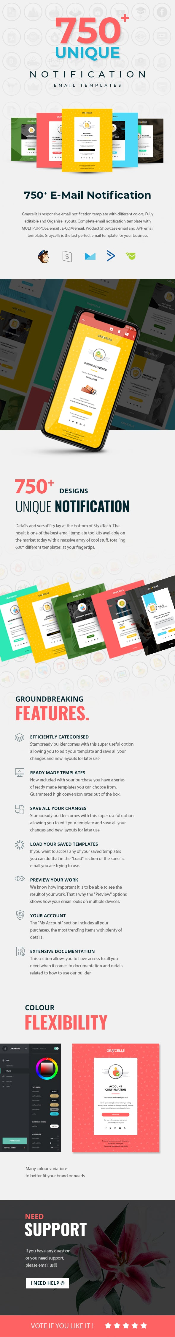 750 Responsive Email Notification Template