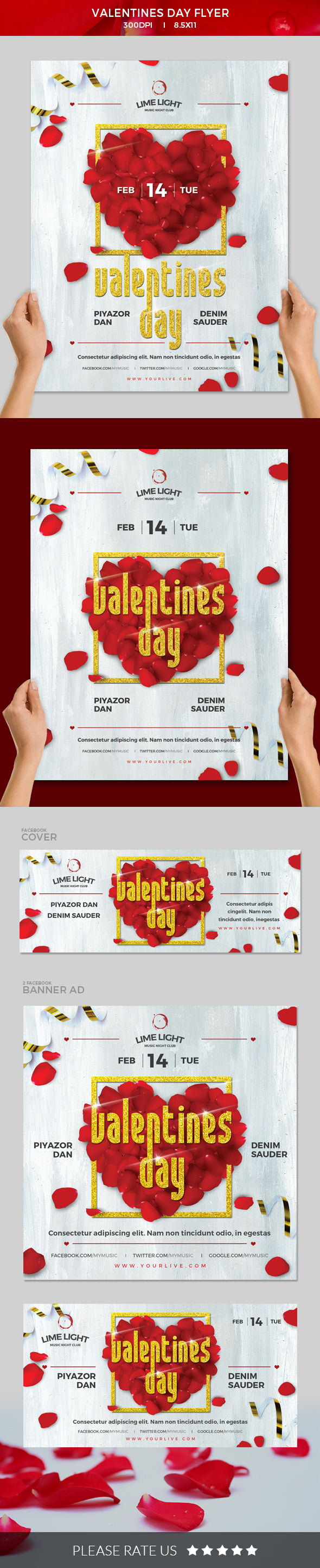 valentine day flyer