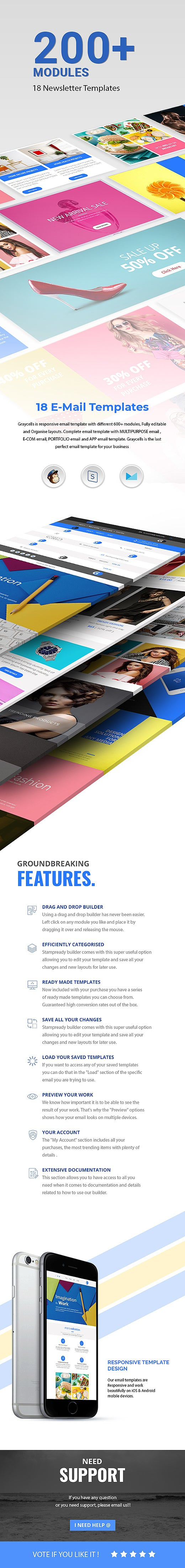 graycells-200-modules-multipurpose-responsive-email-templates
