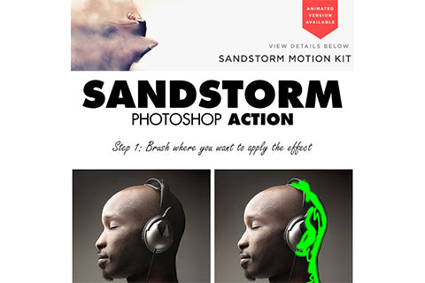 Sandstorm Photoshop Action