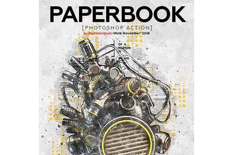 Paper Book Photoshop Action
