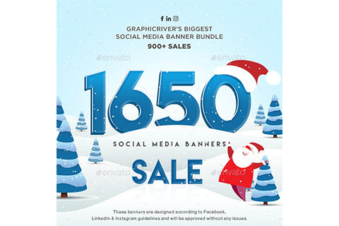 1650 Facebook & Instagram Ad Banners - Holiday Update