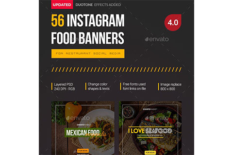 56 Instagram Food Banners