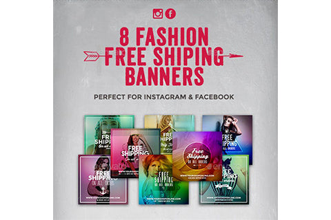 8 Instagram Banners - Free Shipping