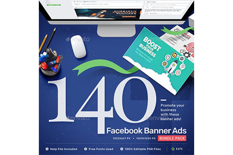 Facebook Ad Banners - 140 Banners - Updated!!