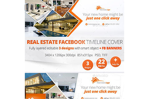 Real Estate Facebook Covers and Banners