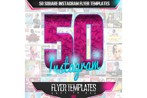 50 Square Instagram Flyer Templates