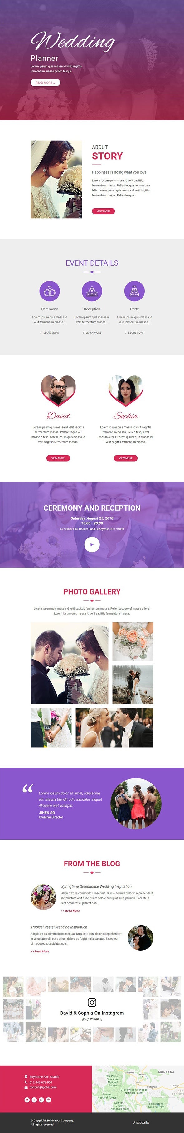 Free Wedding Planner Email Template