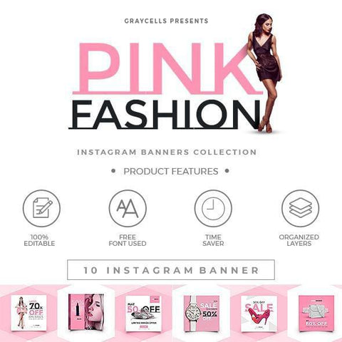 10 -  Fashion Instagram Banners - photoshop action