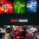 10 - Sports Instagram Banners - photoshop action