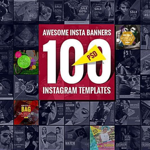 100 – Instagram Banners - photoshop action