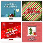 15 - Christmas Instagram Banners - watercoloraction