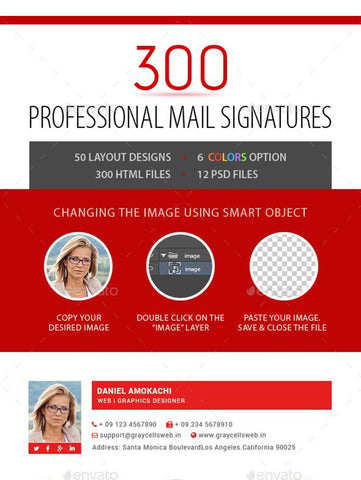 Professional Email Signature - photoshop action