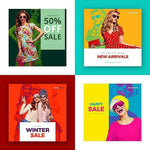 20 - Fashion Instagram Banners - watercoloraction