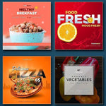 20 - Food Instagram Banners - watercoloraction