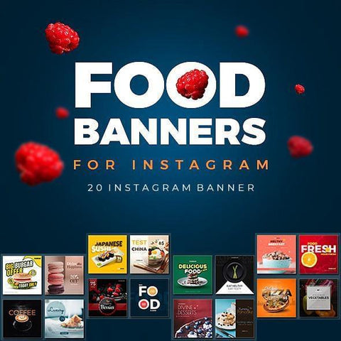 20 - Food Instagram Banners - photoshop action