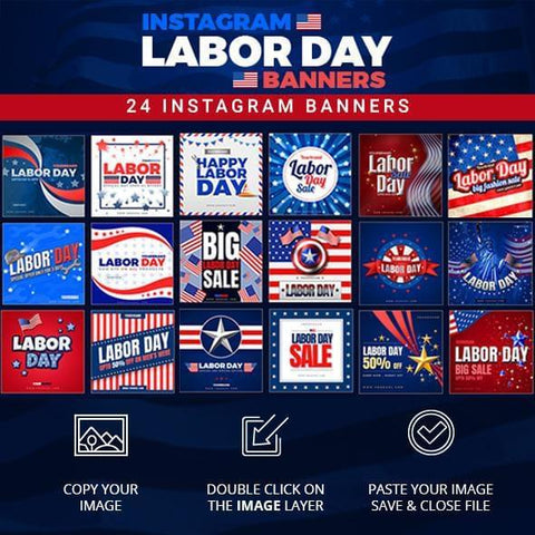 26 - Labor Day Instagram Banners - photoshop action