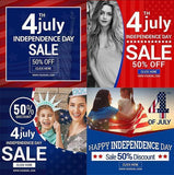 4th July 20 - Instagram Banners - watercoloraction