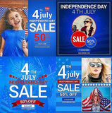 4th July 20 - Instagram Banners - photoshop action