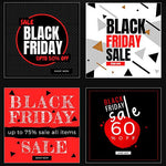 50 - Black Friday Instagram Banners 4.00 watercolor action
