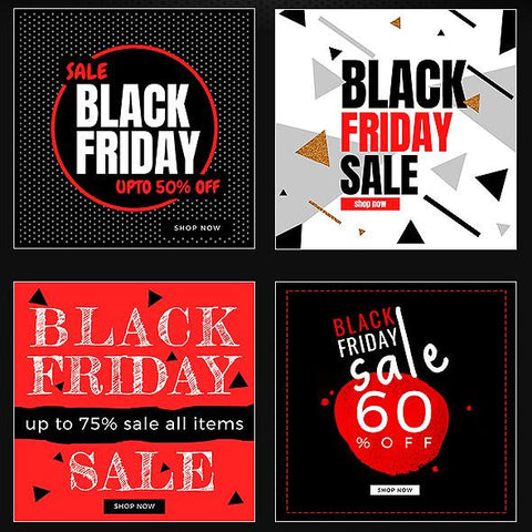 50 - Black Friday Instagram Banners - photoshop action