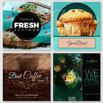 50 - Food Instagram Banners - watercoloraction