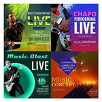 100 -  Music Facebook Banners - watercoloraction