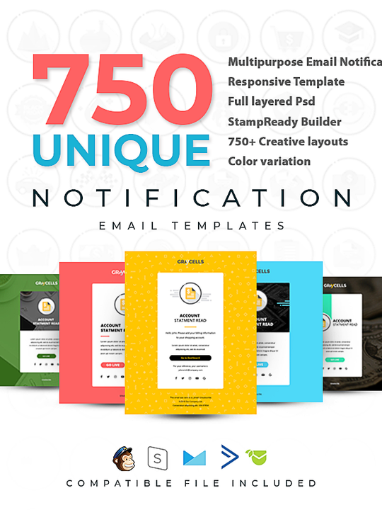 4 Professional Email Template + Bonus 750 Email Notification Template