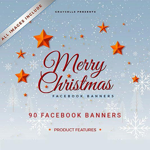 90 - Christmas Facebook Promotion Banners 4.00 watercolor action