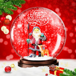 Animated Snow Globe Photoshop Action Free - watercoloraction