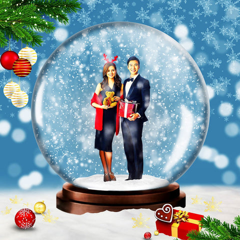 Animated Snow Globe Photoshop Action Free