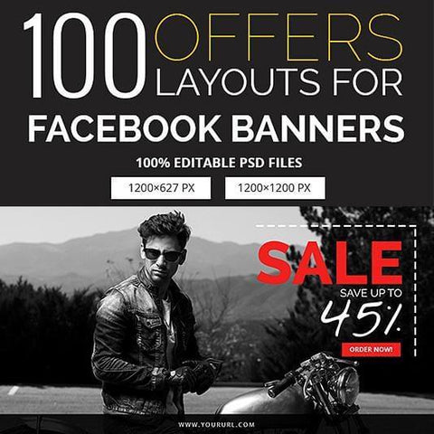 100 - Facebook Banners V1 4.00 watercolor action