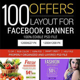 100 - Multipurpose Facebook Banners 4.00 watercolor action