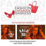 100 - Fashion Facebook Banners 4.00 watercolor action