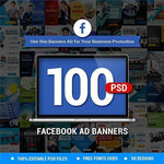 100 - Facebook Business Banners - photoshop action