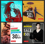 50 -  Instagram Promotional Banners - watercoloraction