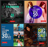 50 -  Instagram Promotional Banners - photoshop action