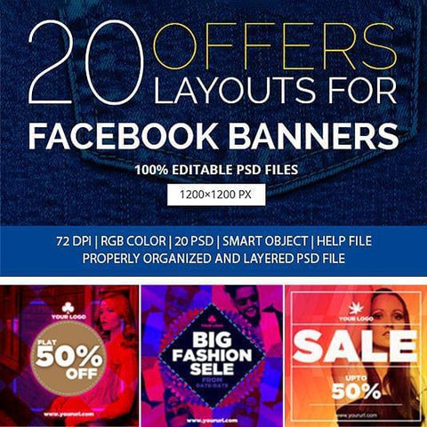 20 - Fashion Facebook Banners - photoshop action