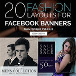 20 - Fashion Facebook Promotion Banners 4.00 watercolor action