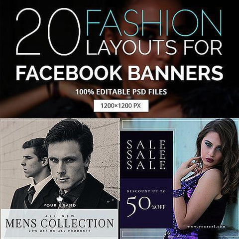 20 - Fashion Facebook Promotion Banners - photoshop action