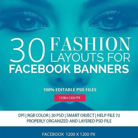 30 - Duotone Facebook Promotion Banners 4.00 watercolor action