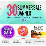 30 - Facebook Creative Banners 4.00 watercolor action