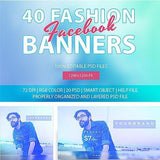 40 - Facebook Promotion Banners 4.00 watercolor action