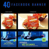 40 -  Facebook Banners 4.00 watercolor action