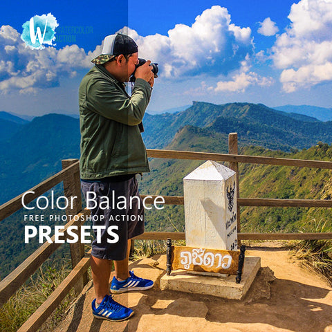 Free Photoshop Action Color Balance - photoshop action