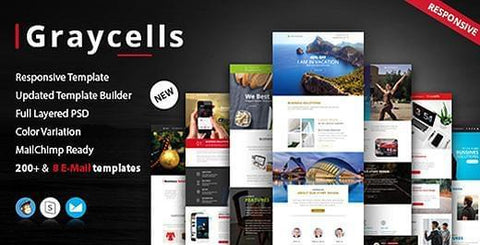 200 MODULES RESPONSIVE MULTIPURPOSE EMAIL - photoshop action