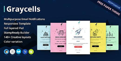 70 RESPONSIVE EMAIL NOTIFICATION TEMPLATES