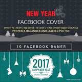 Facebook Cover Banner New Year 4.00 watercolor action