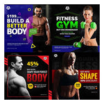 70 - Fitness Facebook Banners - watercoloraction