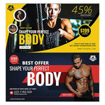 70 - Fitness Facebook Banners - photoshop action